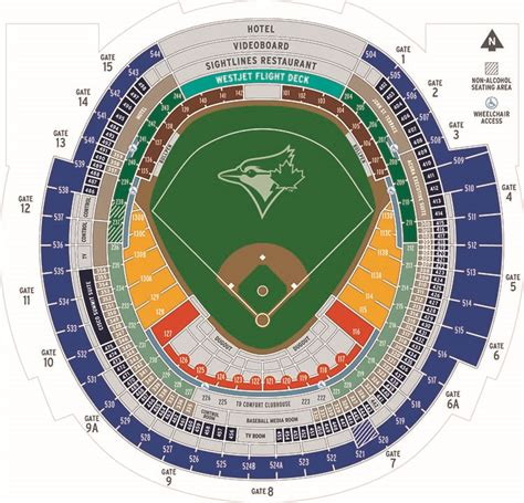 rogers centre seating plan for concerts rogers centre toronto blue jays ballpark ballparks of