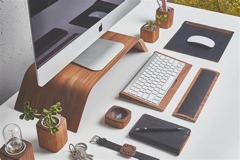 Re Style Your Workspace W This Designer Desk Collection Design Desk Accessories