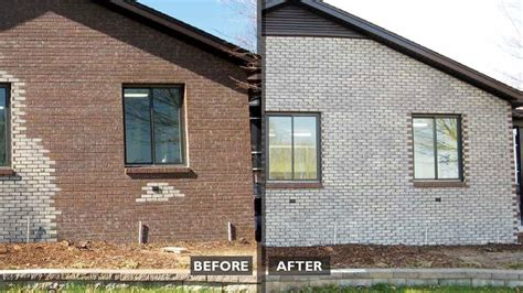 Stained Brick House by Masonry Staining Faq