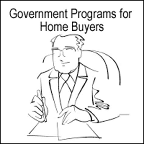 home buyer government programs government programs for