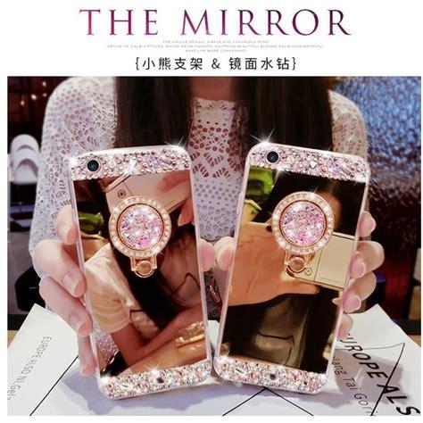 Iphone 7 7s Luxury Mirror Hello Stand Holder Cover luxury diy bling ring holder stand mirror