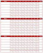Bowling Recap Sheet Template by Pin Pin Bunco Score Card Ajilbabcom Portal On