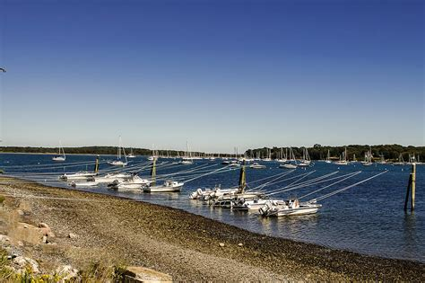 boats j raymond all docked up at fort getty park photograph by raymond j deuso