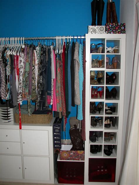 closet ideas with luring decor of hanging clothes