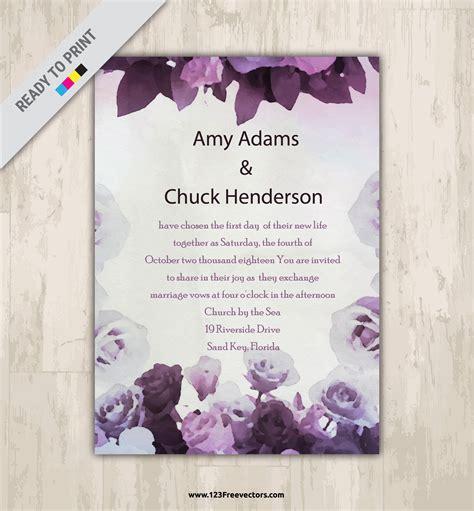 Wedding Card Design Flowers by Rainbow Wedding Invitation Templates Free Wedding