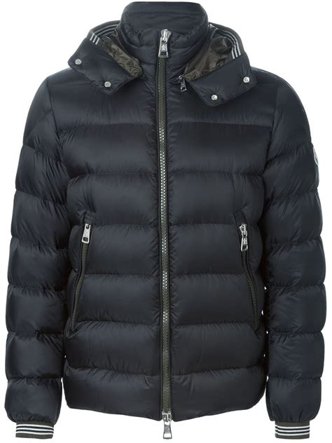 Padded Tie Front Jacket moncler hooded puffer jacket in blue for lyst
