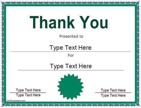 thank you certificate template 10 best images about certificates on