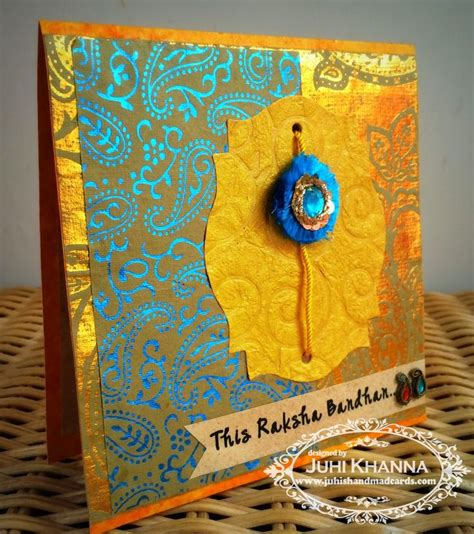 Handmade Greeting Cards For Raksha Bandhan - 25 best ideas about handmade rakhi on