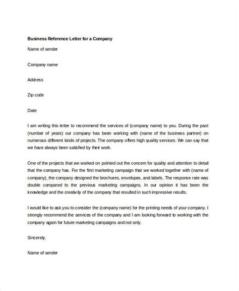 Reference Letter Number business referral letter template letters free sle