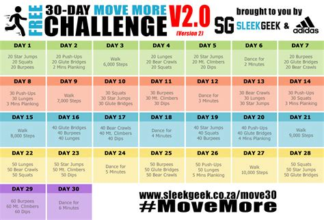 challenge in sleekgeek s 30 day movemore challenge sleekgeek