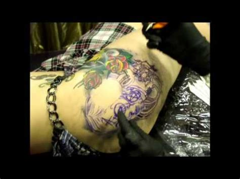 tattoo statistics singapore lauren s new tattoo on her right hip in singapore youtube