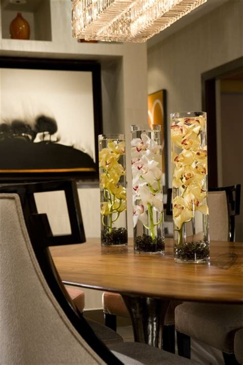 dining room centerpiece contemporary dining room