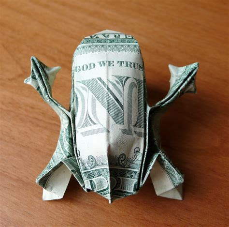 Origami Money Frog - dollar bill origami tree frog by craigfoldsfives on deviantart