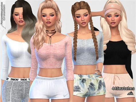 tsr sims 4 clothes sports the sims resource cute sporty everyday tops by
