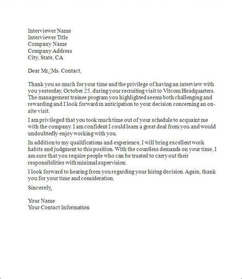 Thank You Letter To S Follow Up Letters On Resume Messages And Business