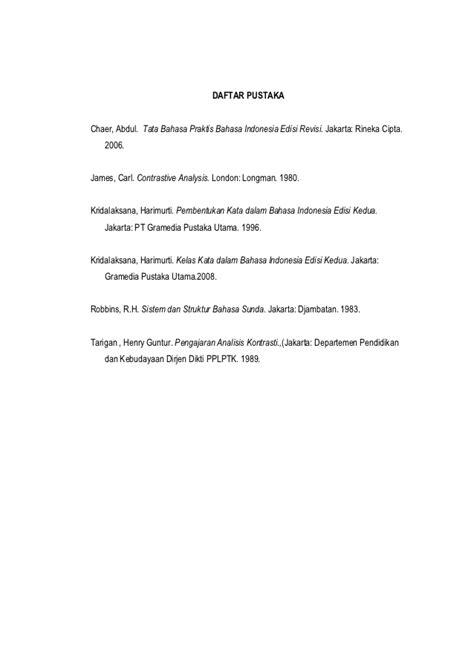 Tata Bahasa Praktis Bahasa Indonesia Edisi Revisi Abdul Chaer analisis kontrastif pembentukan kata kerja