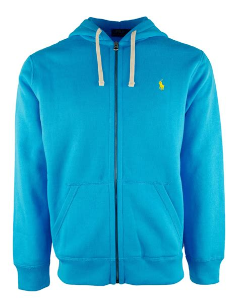 Jaket Polos Item polo ralph s fleece hooded zip jacket ebay