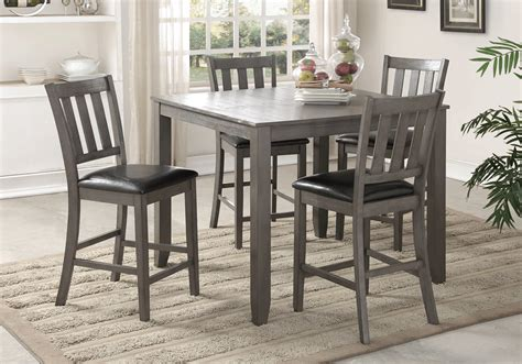 Grey Dining Room Set Canada Cosgrove Grey 5pc Counter Height Dinette Set