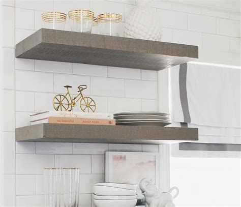 floating kitchen shelves with lights heavy duty floating shelf bracket fits 36 48 inch shelves