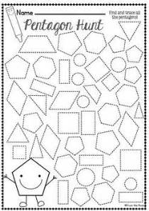 1000 ideas about shapes worksheets on pinterest