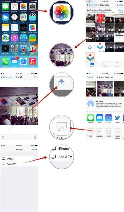 how to airplay from iphone how to airplay from photos on your iphone or to your apple tv imore