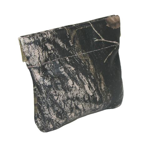 leather camouflage print squeeze coin pouch by ctm 174 key