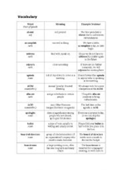 printable business english worksheets business english vocabulary free worksheets 1000 images