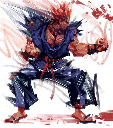 Fighter Akuma Black gouki by zhuzhu on deviantart