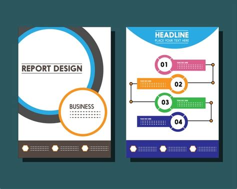 circle business card template illustrator business report templates circles and infographic styles