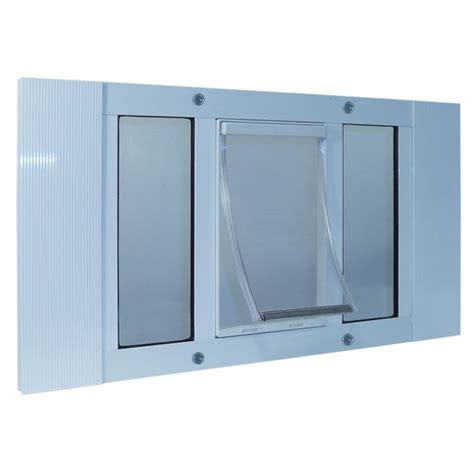 Sash And Door by Ideal Pet Aluminum Sash Window Pet Door Large 27