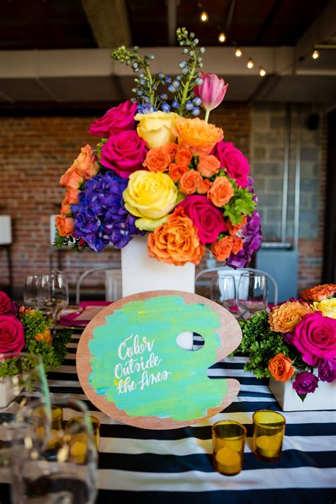 art themed events talia s art and floral bat mitzvah party pop color events