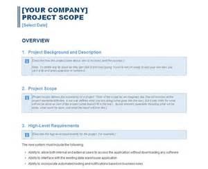 business scope template project scope report project scope report template