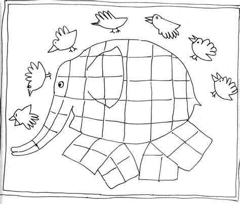 Elmer The Elephant Coloring Page Coloring Pages Elmer Colouring Pages