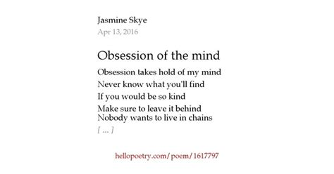 the brain by jg collins hello poetry obsession of the mind by hello poetry
