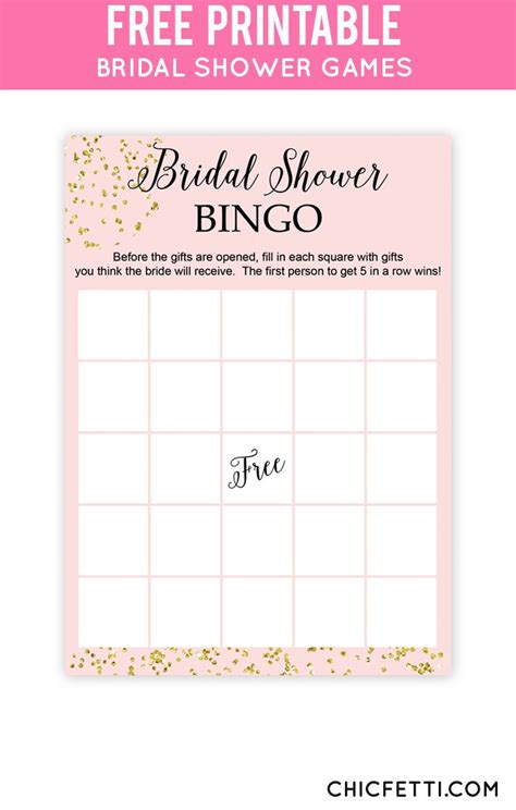 bridal shower bingo 25 free bridal shower printables