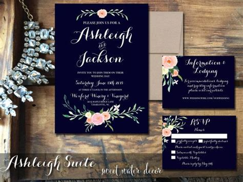 Wedding Invitations Navy by 17 Best Ideas About Navy Weddings On Blue