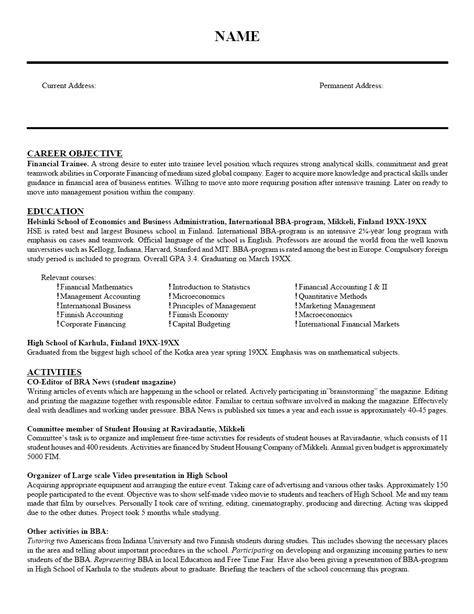 Objective C Resume by Objective For A Resume For Teaching Resume