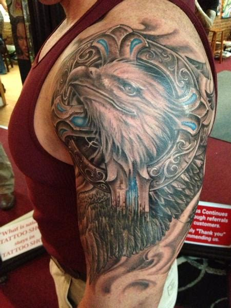 roly tattoo quilmes instagram eagle and stone cross by roly viruez tattoonow