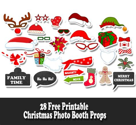 printable christmas themed photo booth props christmas photo booth props 4k wallpapers
