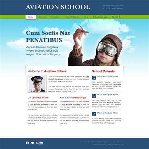 Flight School Website Template Aviation School Web Template Free Website Templates