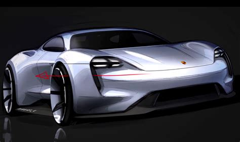 porsche mission e sketch the porsche mission e concept design