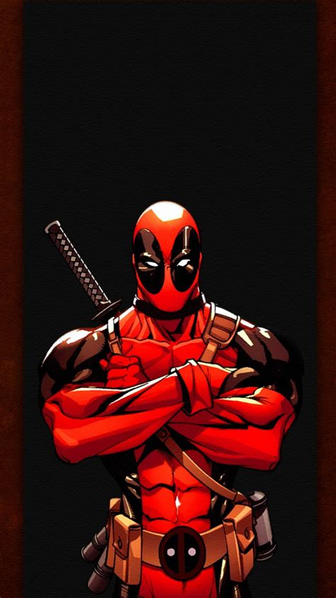 wallpaper android deadpool deadpool illustration android wallpaper free download