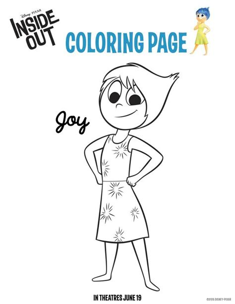 disney pixar inside out coloring pages disney coloring book free printable disney pixar inside out joy coloring page