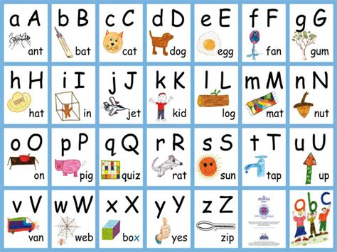 printable alphabet chart for toddlers abc chart abc chart illustrated by children kids