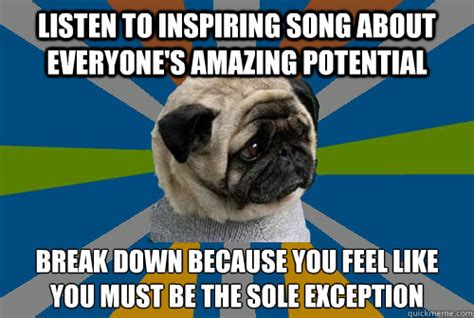 Depressed Pug Meme - clinically depressed pug memes quickmeme