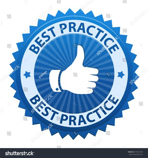 icon design best practices best practice label icon isolated on stock vector