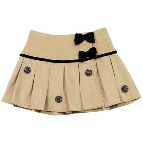 baby graziella pleated skirt beige from designer