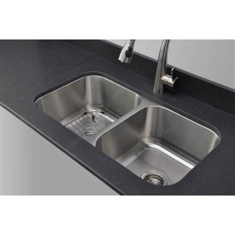 sinkware 18 50 50 equal bowl undermount