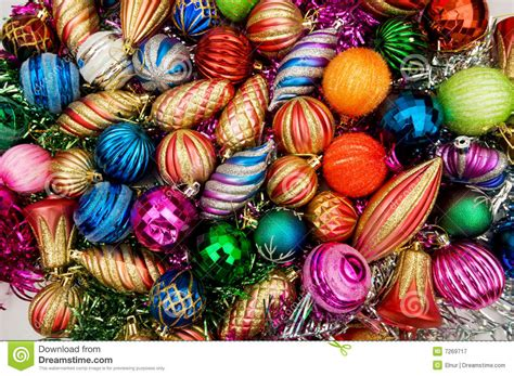 colourful christmas decorations royalty free stock