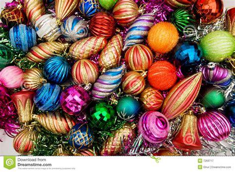colourful christmas decorations stock image image 7269717